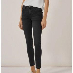 Zara Women Premium Denim Black Jeans